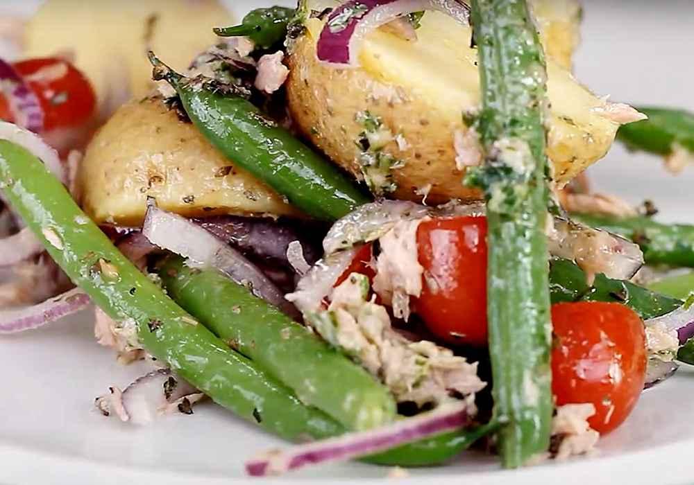 Салат нисуаз с печенью трески - пошаговый рецепт, фото 1