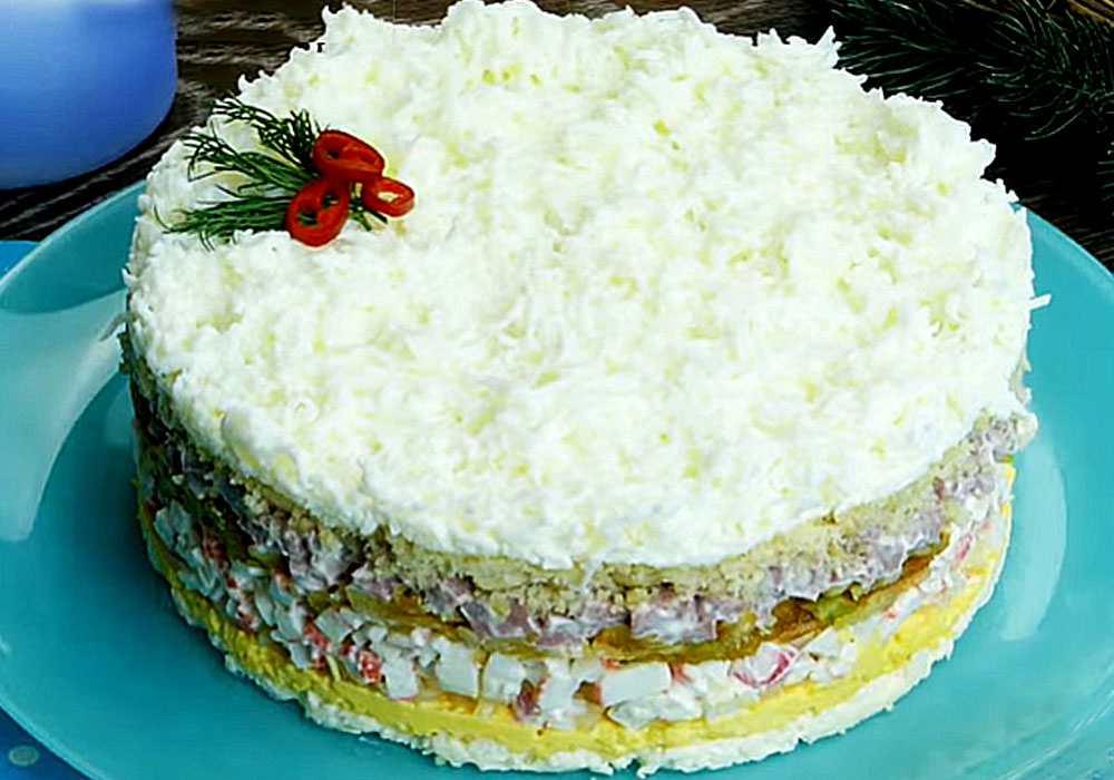 Слоеный салат - пошаговый рецепт, фото 1