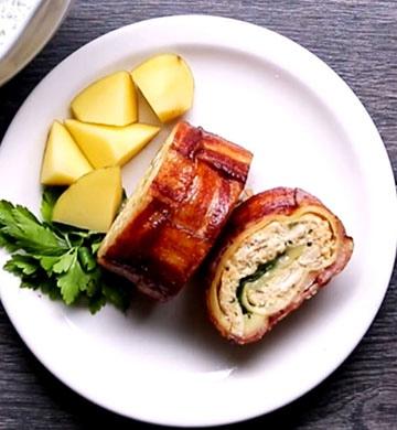 Куриные рулетики, завернутые в бекон - пошаговый рецепт, фото 1