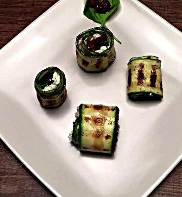 Рулет из кабачков с сыром - пошаговый рецепт, фото 1
