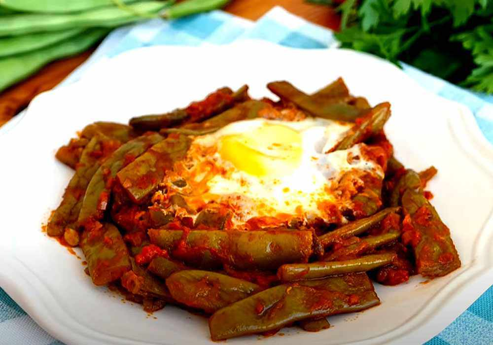 Стручковая фасоль жареная с яйцами - пошаговый рецепт, фото 1