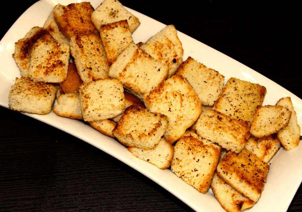 Сухари на сковороде - пошаговый рецепт, фото 1