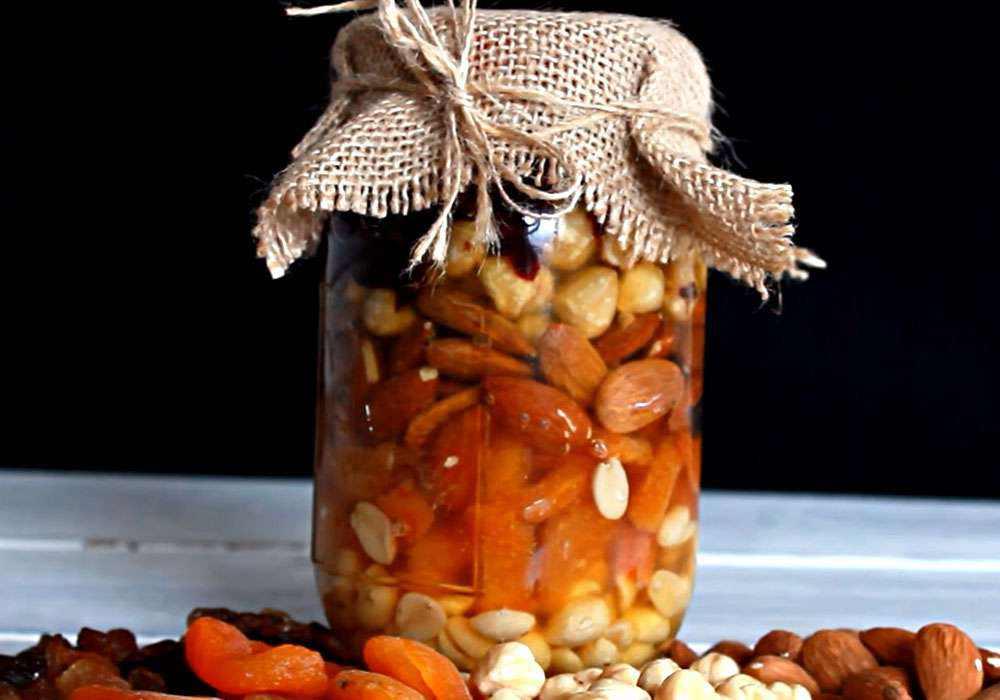 Сухофрукти з медои і горіхами - покроковий рецепт, фото 1