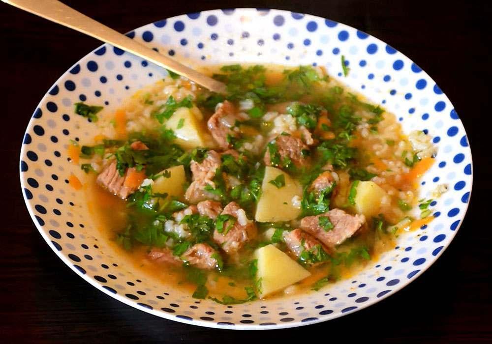 Суп харчо из говядины с рисом - пошаговый рецепт, фото 1