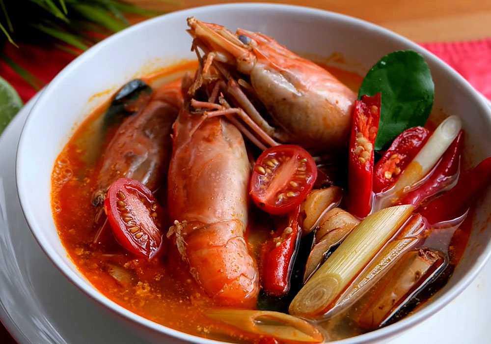 Суп Том ям с томатной пастой - пошаговый рецепт, фото 1