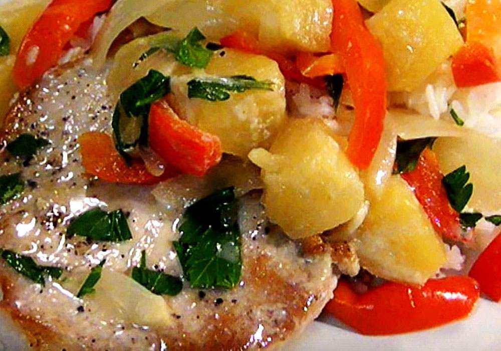 Свиные отбивные с ананасом - пошаговый рецепт, фото 1