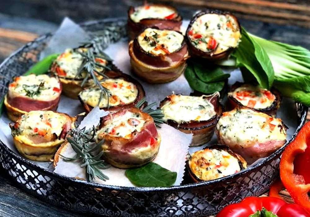 Тарталетки с сыром и беконом - пошаговый рецепт, фото 1