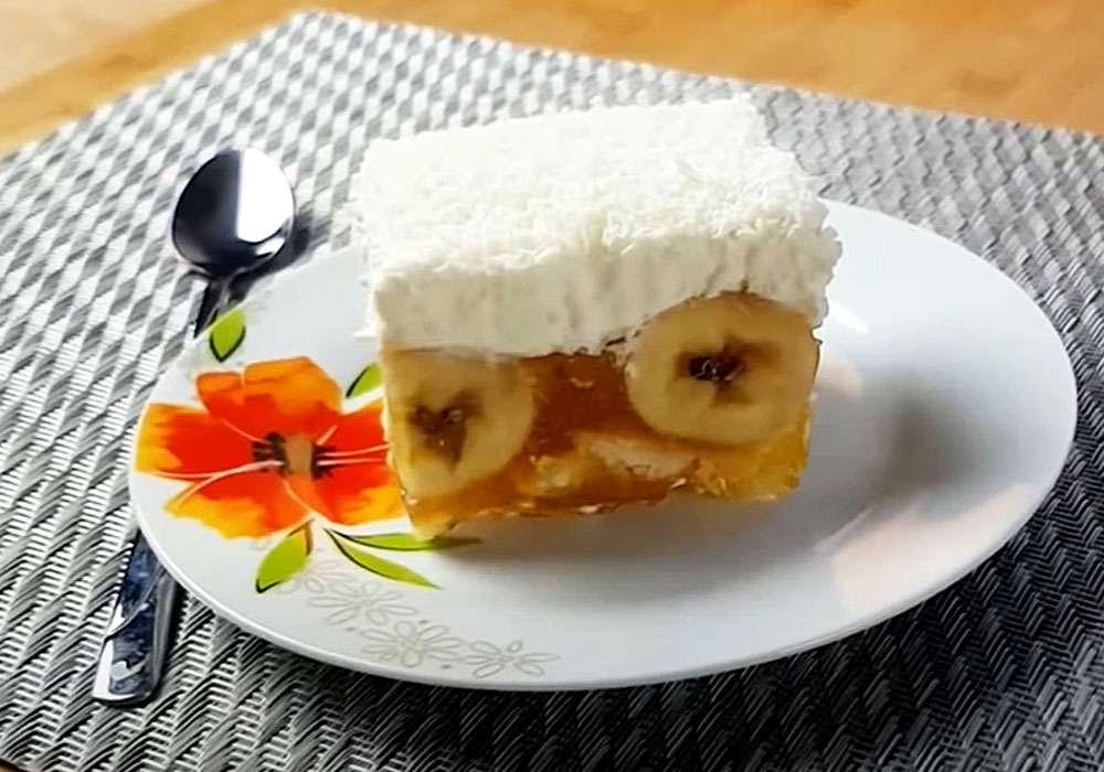 """Торт из печенья с бананами """"Мария"""" - пошаговый рецепт, фото 1"""