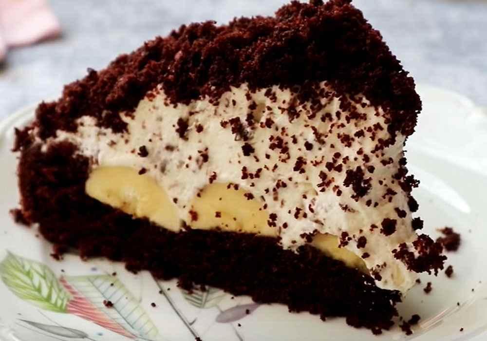 Торт Норка крота с бананами - пошаговый рецепт, фото 1