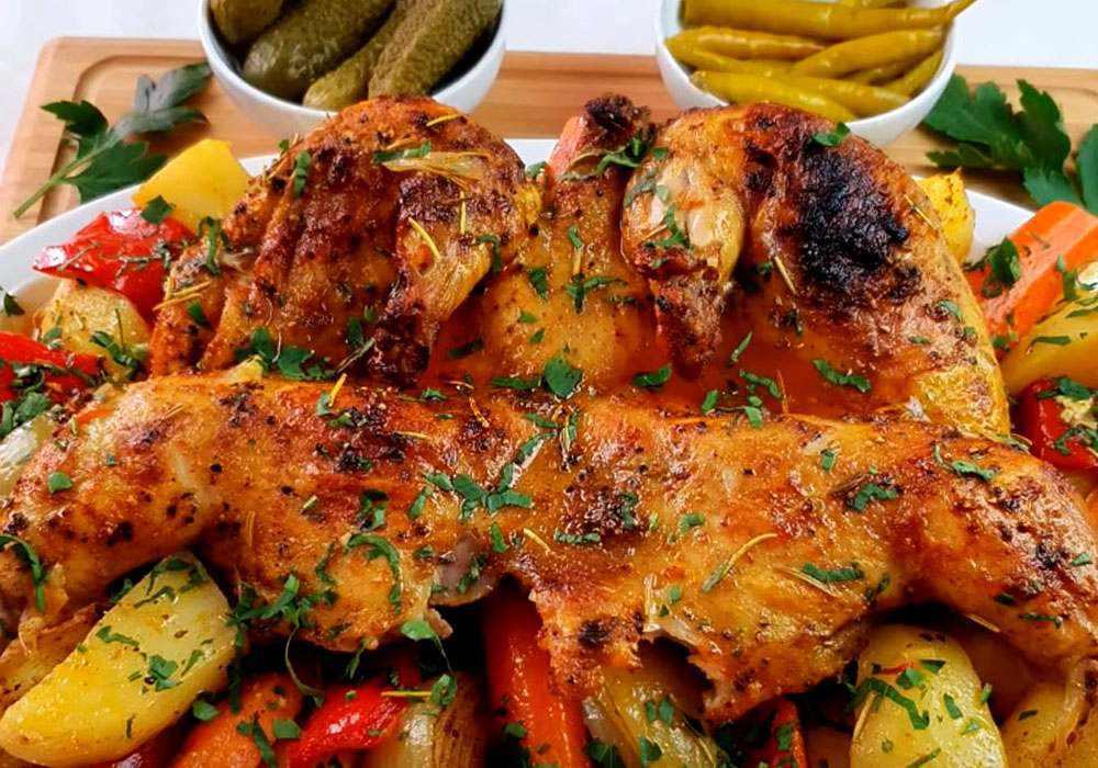 Цыпленок табака в духовке - пошаговый рецепт, фото 1