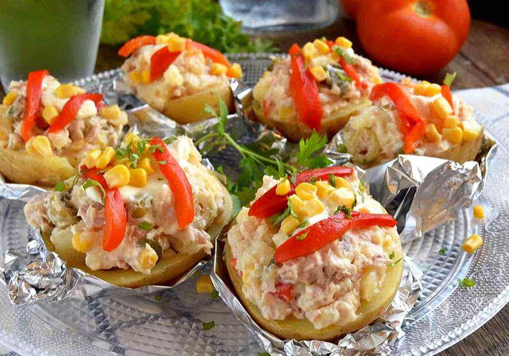 Тунец и картофель, запеченные в духовке - пошаговый рецепт, фото 1