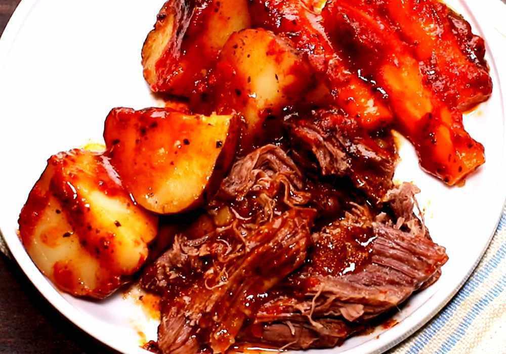Тушеная картошка с мясом в мультиварке - пошаговый рецепт, фото 1