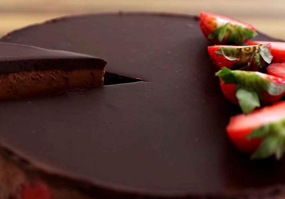 Творожный торт с шоколадом и клубникой - пошаговый рецепт, фото 1