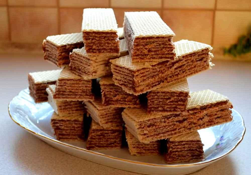 Вафельный торт со сгущёнкой - пошаговый рецепт, фото 1
