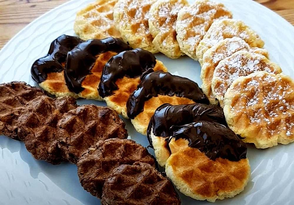 Вафельное печенье в вафельнице - пошаговый рецепт, фото 1