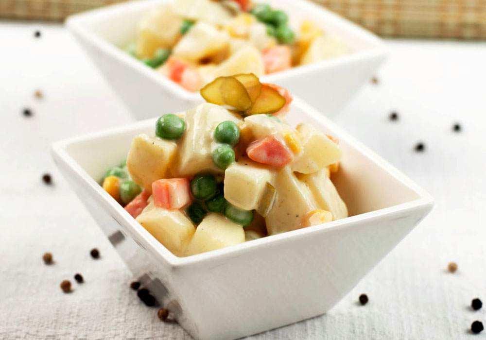 Вегетарианское оливье - пошаговый рецепт, фото 1
