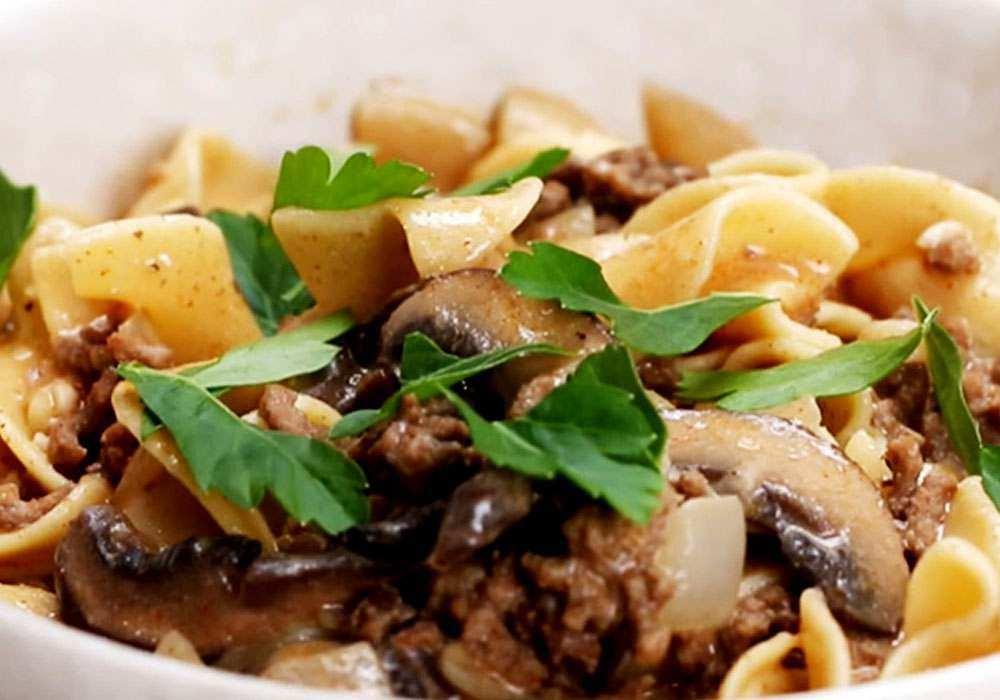 Вермишель с фаршем на сковороде - пошаговый рецепт, фото 1