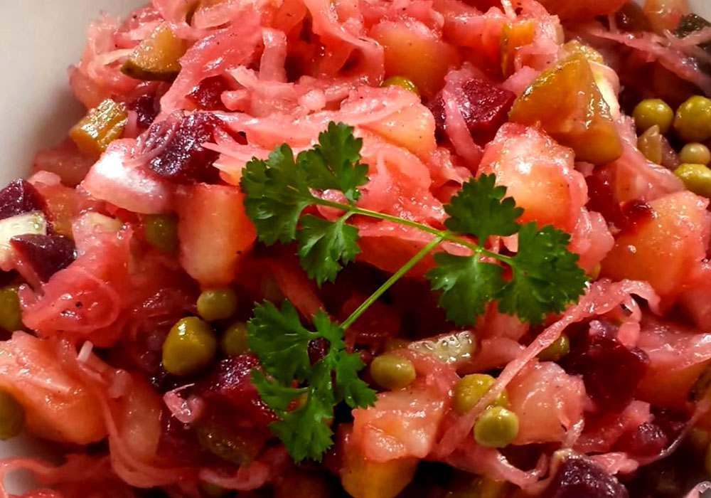 Винегрет с квашеной капустой - пошаговый рецепт, фото 1