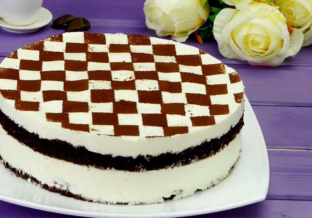 Вкусный бисквитный торт - пошаговый рецепт, фото 1