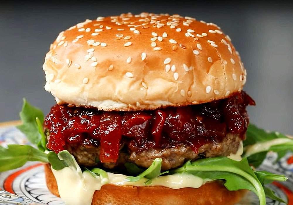 Вкусный бургер - пошаговый рецепт, фото 1