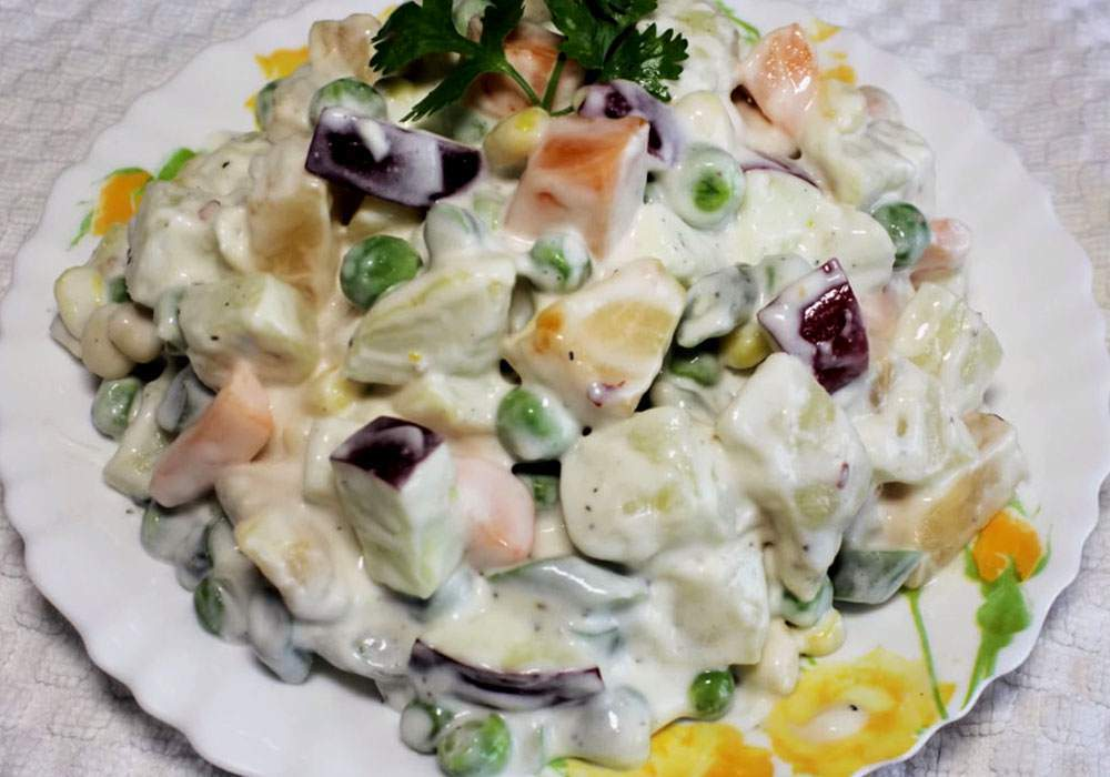 Вкусный салат оливье - пошаговый рецепт, фото 1