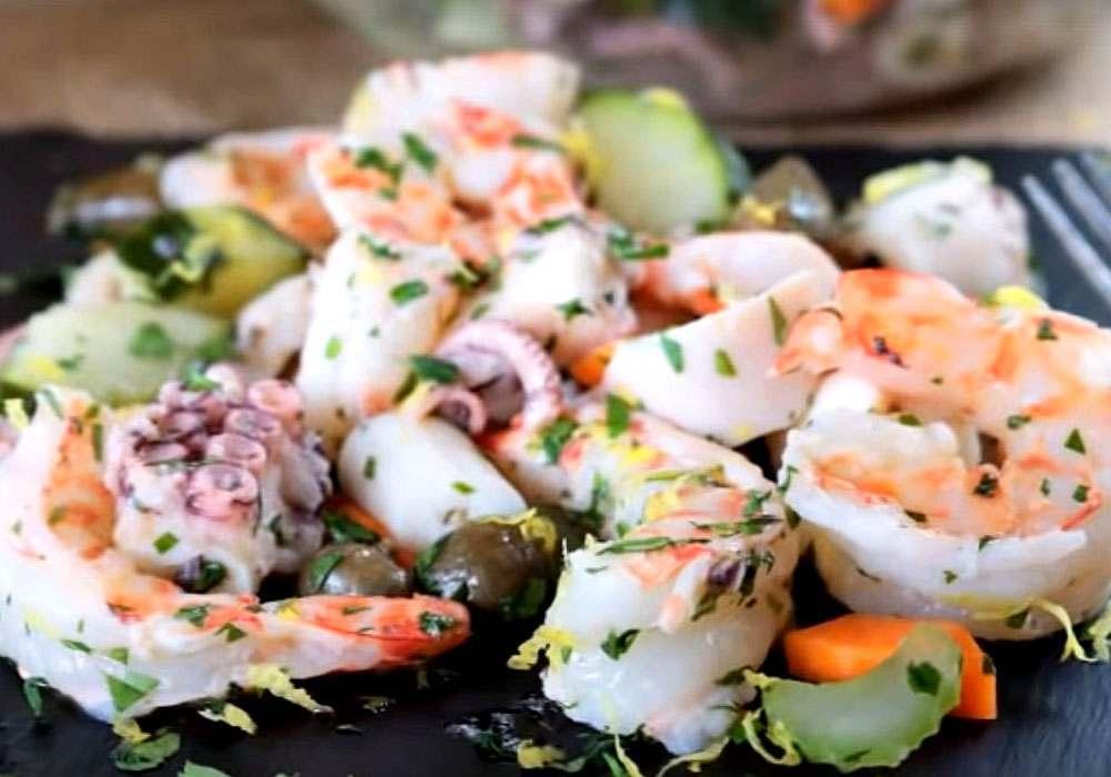 Вкусный салат с креветками - пошаговый рецепт, фото 1