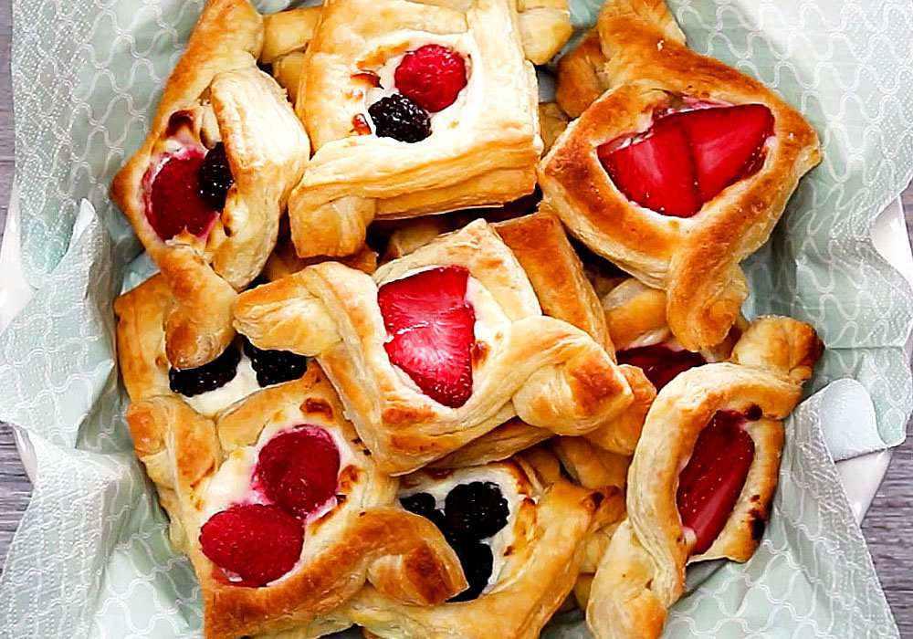 Волованы с кремом и ягодами - пошаговый рецепт, фото 1