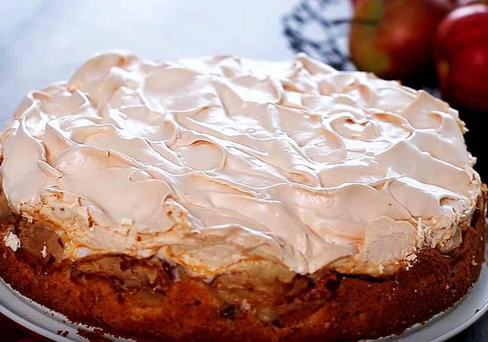 Яблочный торт с безе - пошаговый рецепт, фото 1