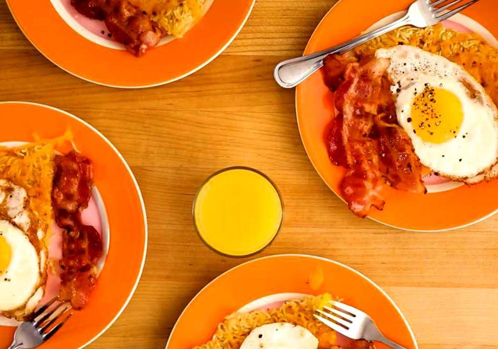 Яичница с сыром - пошаговый рецепт, фото 1