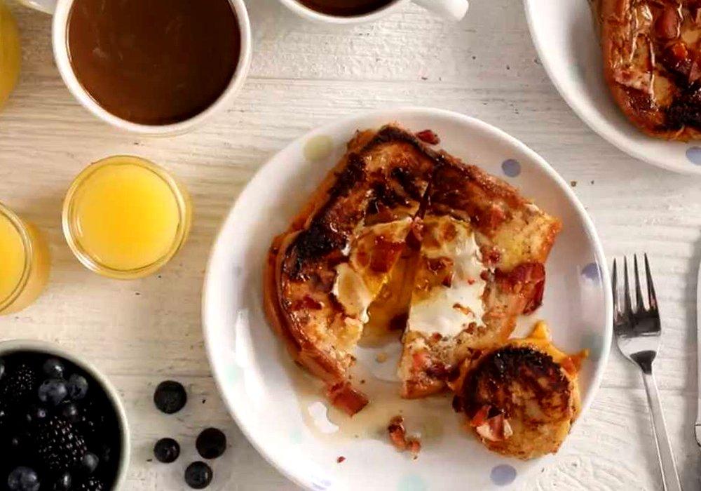 Яичница в хлебе - пошаговый рецепт, фото 1