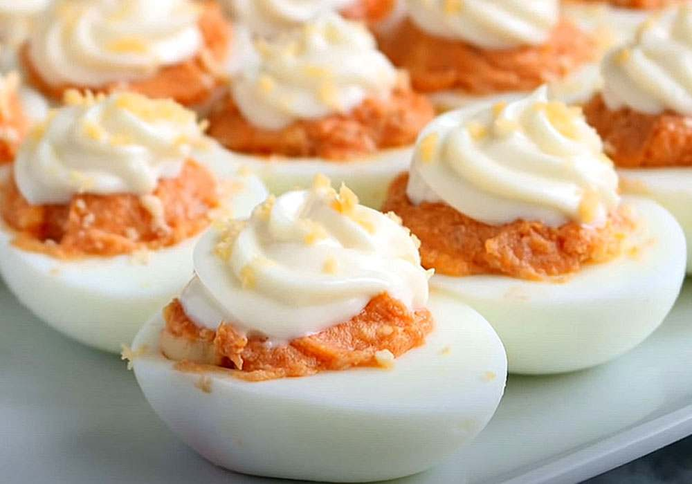 Яйца фаршированные печенью трески - пошаговый рецепт, фото 1