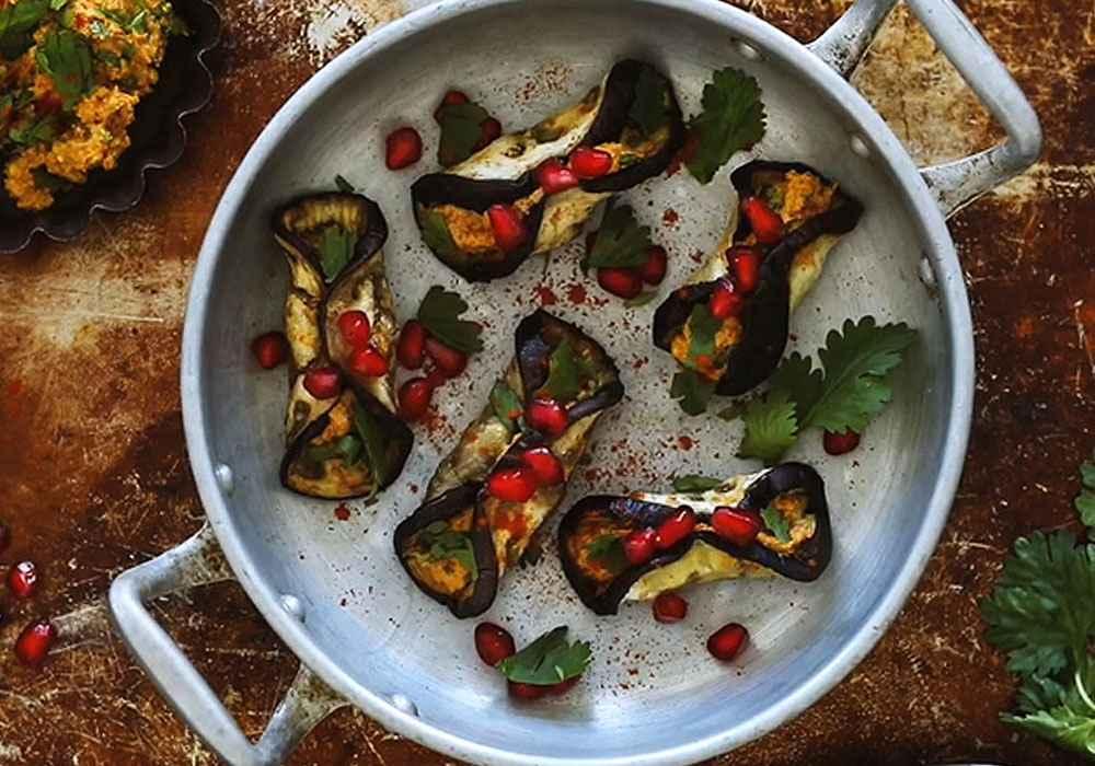Закуска из баклажанов с орехами и чесноком - пошаговый рецепт, фото 1