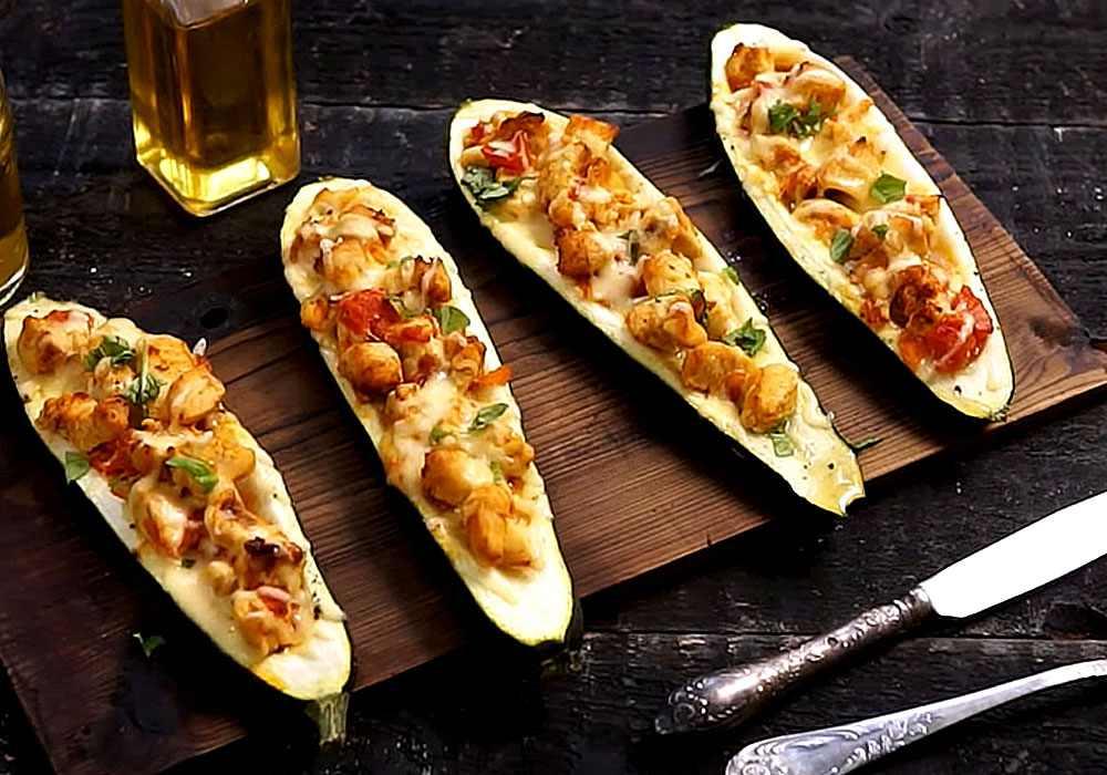 Закуска из кабачков с чесноком и помидорами - пошаговый рецепт, фото 1