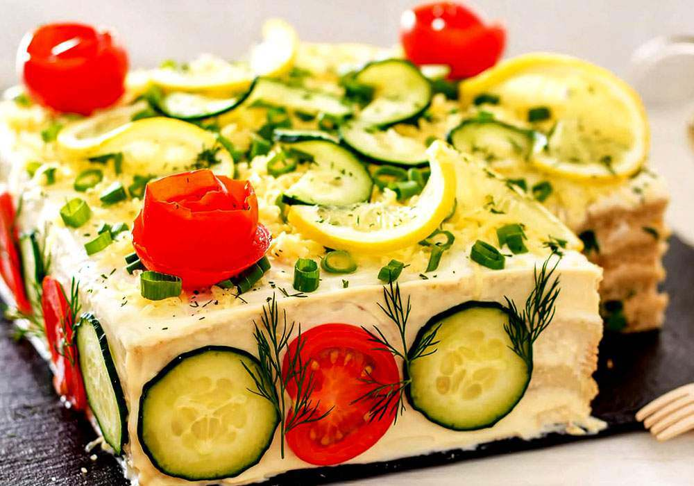 Закусочный торт с рыбной консервой - пошаговый рецепт, фото 1
