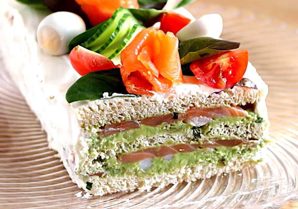 Закусочный торт с семгой - пошаговый рецепт, фото 1