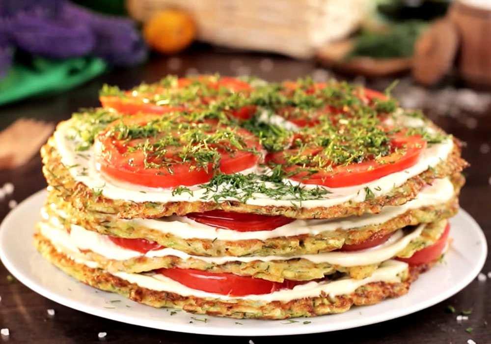 Закусочный тортик из кабачков - пошаговый рецепт, фото 1