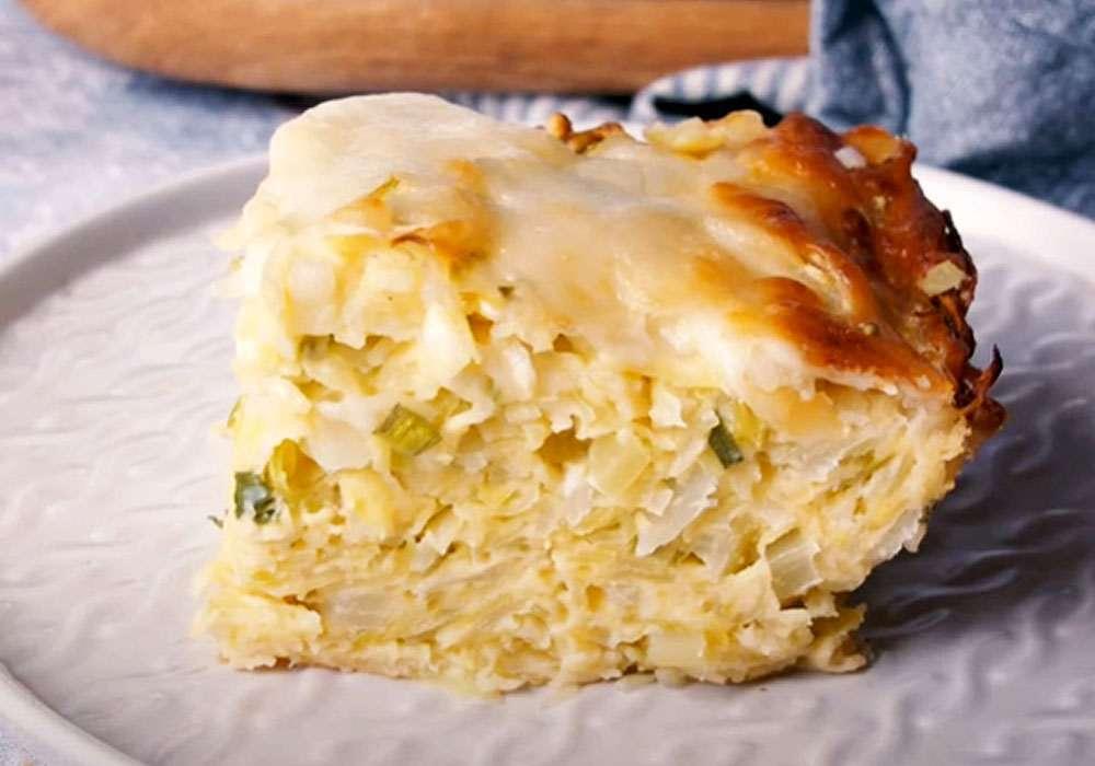 Заливной пирог с капустой и сыром - пошаговый рецепт, фото 1