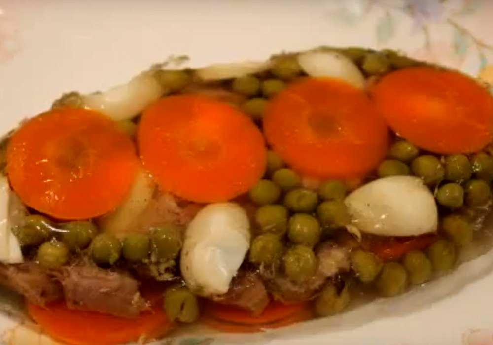 Заливное из языка говяжьего - пошаговый рецепт, фото 1