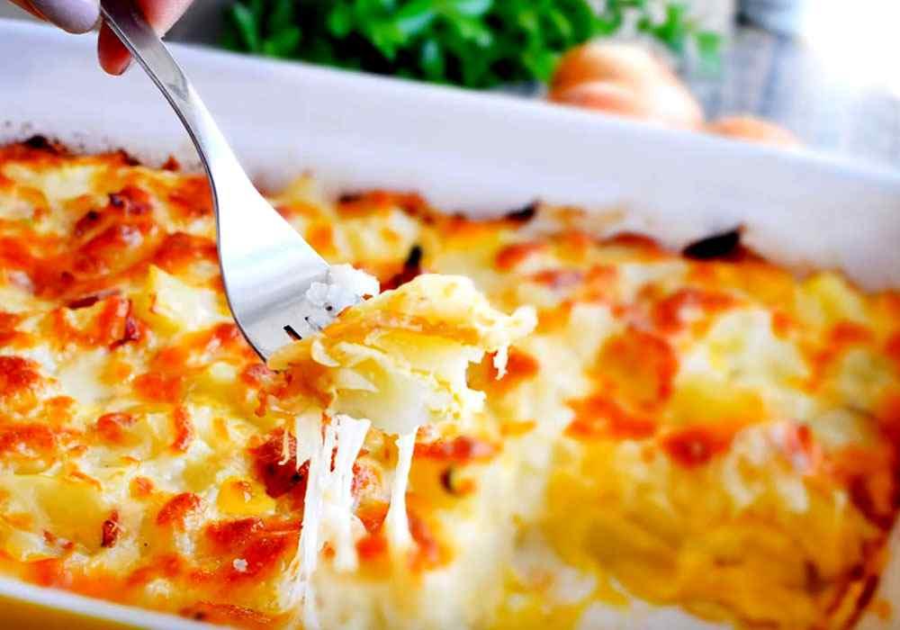 Запечена картопля з сиром - покроковий рецепт, фото 1