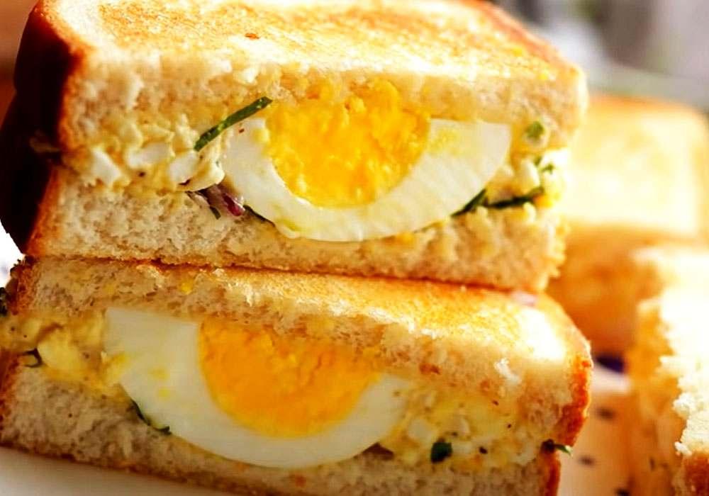 Завтрак на скорую руку (бутерброд с яйцом) - пошаговый рецепт, фото 1