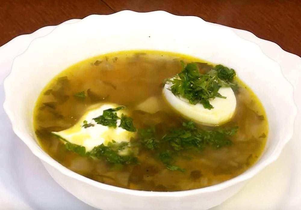 Зеленый борщ с яйцом - пошаговый рецепт, фото 1