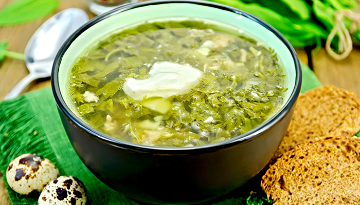 Зеленый борщ с ребрышками - пошаговый рецепт, фото 1