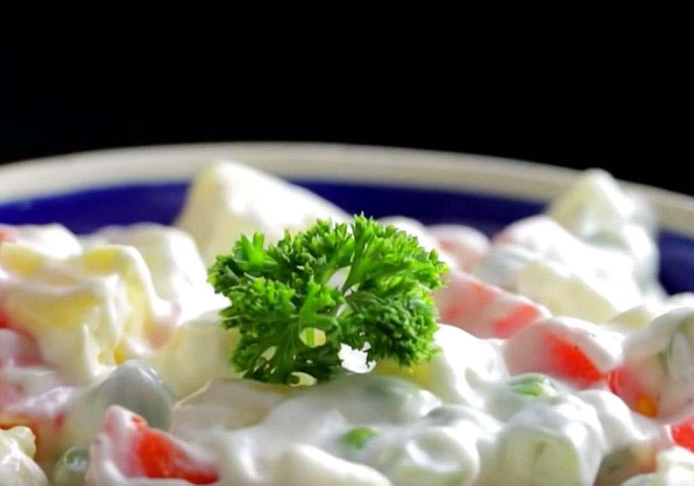 Зимний салат оливье - пошаговый рецепт, фото 1